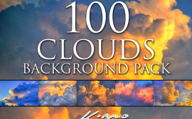 100-clouds-background-pack